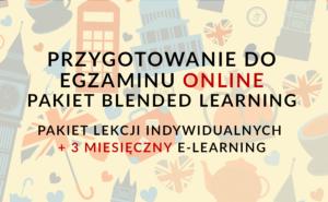 PRZYGOTOWANIE DO EGZAMINU ONLINE PAKIET BLENDED LEARNING