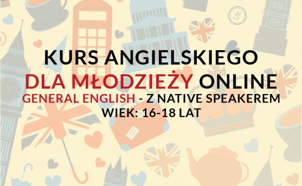 Kurs języka angielskiego online dla młodzieży/nastolatków w wieku 16-18 lat z lektorem polskim lub native speakerem weekendowo lub w tygodniu.