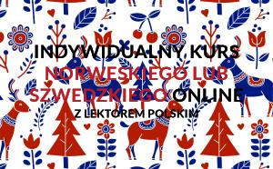 Nauka indywidualna szwedzkiego lub norweskiego online z lektorem polskim