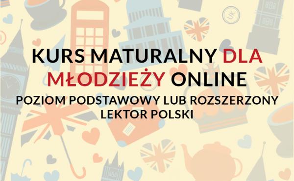 Przygotowanie do matury z języka angielskiego online z lektorem polskim, naucz się angielskiego online